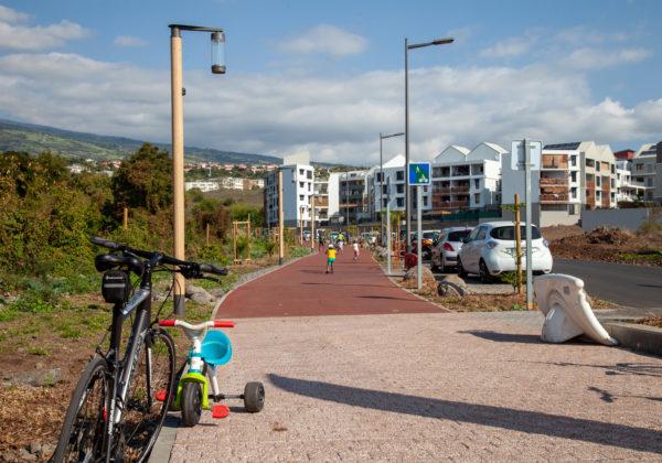 Inauguration de la voie à mobilité réduite